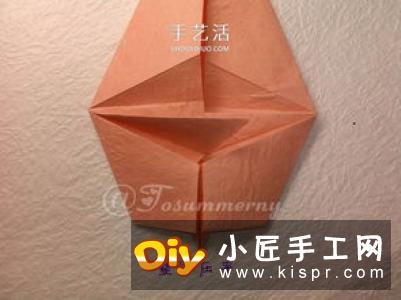 立体老鼠折纸图解教程 逼真小老鼠的折法步骤