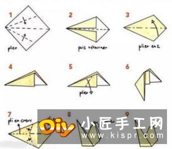 超简单小猫咪折纸图解 幼儿手工折猫咪的折法
