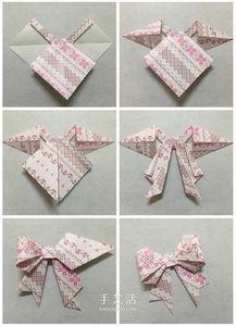 幼儿园折纸蝴蝶结图解 简单蝴蝶结的折叠方法