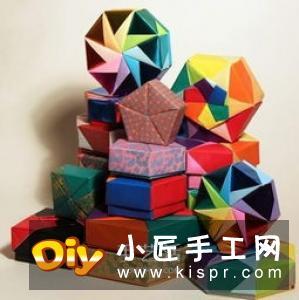 带盖方盒子的折纸方法 简单方形纸盒折叠图解