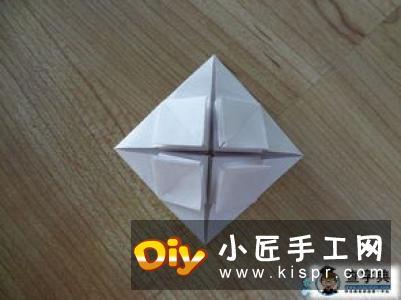 八边形纸折圣诞树图解 立体叠合圣诞树的折法